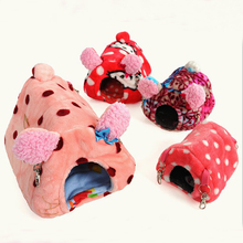 Be suspended Small plush pet litter rabbit hamster guinea pig cage Beds small warm house Pet Product(China)