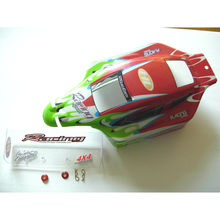 HENGLONG 3851-5 RC Stuck-up 1/10 spare parts No.11001 Red car body shell / car shell / car body