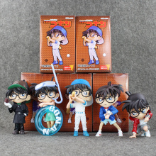 New arrival Detective Conan Cosplay Sherlock Holmes Swimming Playing Baseball tobacco pipe Ver Conan PVC Figure Toy