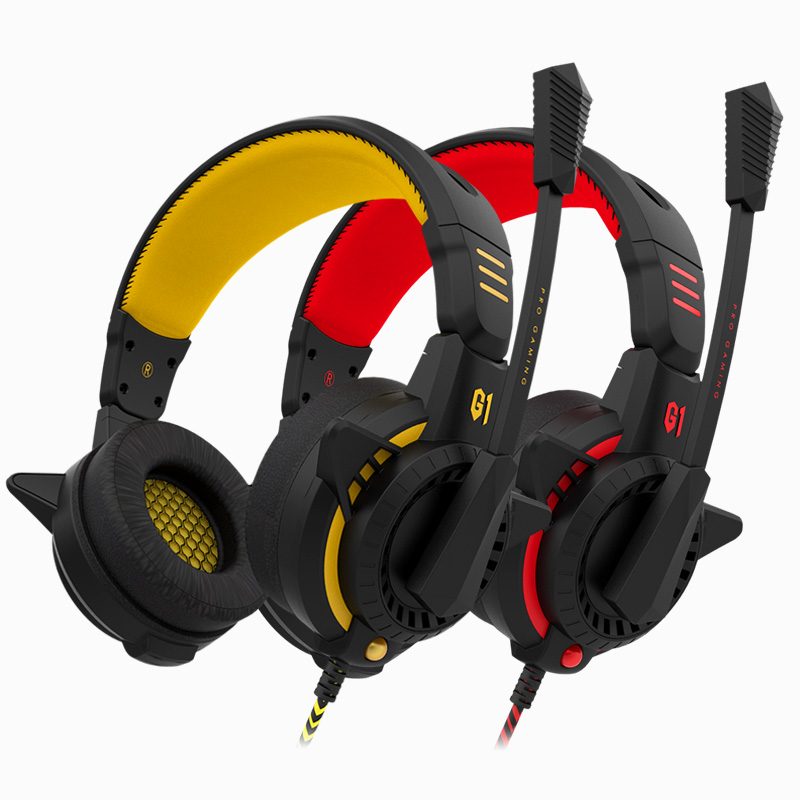 Bingle G1 Gaming Headset PC Gamer Stereo Surrounded Sound Deep Bass Over-Ear Gaming Headphone With Mic For Computer Game<br>