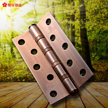 Cherry Blossom stainless steel, 5 inch hinge, door hinge, YH-5*3*3 silent ball, long bearing, 3mm hinge(China)