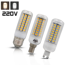 Buy Super LED Bulb E27 E14 SMD 5730 LED Lamp 24 36 48 56 69leds 220V lampada LED G9 Corn Bulb light Chandelier led lights home for $1.19 in AliExpress store