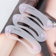 3 Styles New Fashion Women Magic Eye Brow Class Drawing Guide Eyebrow Stencil Shaping Card Template Stencil For Eyebrows