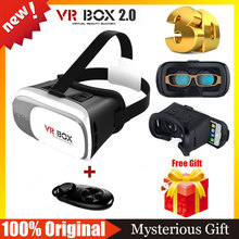 100% Original VR BOX 2.0 Virtual Reality 3D Glasses Goggles VR Helmet VR Shinecon BOBO Z4 3.0 +Bluetooth Mouse Remote Controller