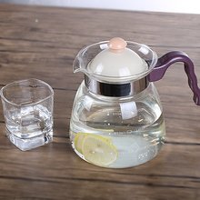 High temperature glass kettle can be hot and cold heat open juice teapot large capacity suite home