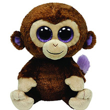 Original Ty Beanie Boos Big Eyes Plush Toy Doll Monkey Baby Kids Gift 15cm Stuffed Animals & Plush