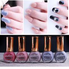 2017 New Professional Nail Art Polish Make Up 22 Colors Pigment 10 ml Peel Off Nude Red Nail Polish Quick Dry