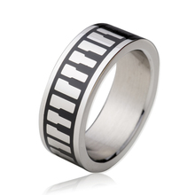 Christian Keyboard Piano Pattern Ring 316L Stainless Steel Music Keys Forgiven Jewelry US Sizes 8-11 Brand New TGTU508R