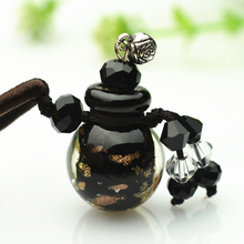 0.5ml Essential Oil Glass Bottle Gift Pendant Empty Aroma Ornaments Perfume Bottle Necklace Accessories Automatic Volatile