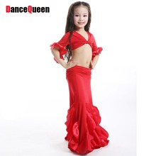 2017 New Belly Dance Tops 2 Pieces(Top+Dress) Egyptian Belly Dance Costume Children/Kids/Girls bellydance Costume Professionals(China)