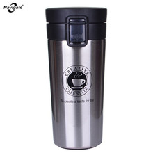 Navigate Stainless Steel Vacuum Flasks High Quality Double Wall 380ml Car Thermos Cup Coffee Tea Milk Travel Mug Thermol Bottle(China)