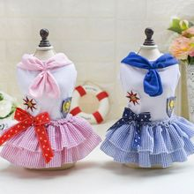 Summer Clothes For Pet Dogs Small Pet Dog Tutu Dress Puppy Cat Doggy Flower Lace Vestidos Princess Dresses(China)
