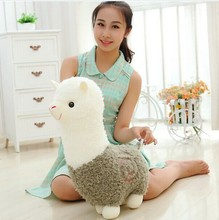 big lovely green plush sheep toy creative God beast doll new alpaca toy gift about 50cm(China)