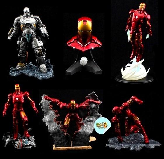 6pcs/lot Marvel Super Hero Figures iron man DTA IRON MAN MK3 Patriot war machine The Avengers Sets Classic Toys comic book hero<br><br>Aliexpress