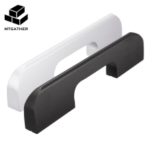 MTGATHER Fashion Aluminum Alloy Door Handle Black And White With Two Screws For Drawer Cabinet Door Hardware(China)