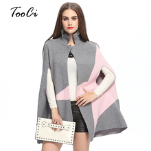 Autumn Winter New Fashion Fringe Women's Woolen Coat Poncho Woman cloak Clothing knit cardigan(China)