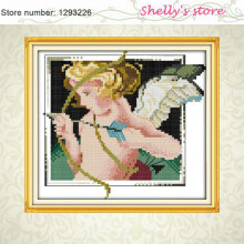 Cupid angel baby painting Counted or Stamped Cross Stitch 11CT 14CT DMC  Cross Stitch Kit Embroidery Home Decor Needlework