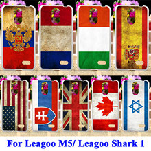 Soft TPU Rubber Phone Cases For Leagoo M5/ Leagoo Shark 1 Shark1 Covers UK Mexico Russia Brazil National Flag Housing Case Shell