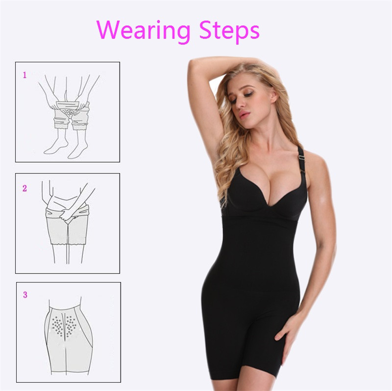 NINGMI Slimming Pants Women High Waist Trainer Tummy Control Panties Thigh Butt Lifter Slim Leg Hot Body Shaper Firm Power Short 23
