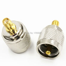 2pcs UHF Male PL259 PL-259 Plug to SMA Female Jack RF Adapter Connector