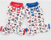 (5pc/lot) Wholesale Spring and summer Pet dog puppy Pajamas clothing Superman bear Teddy clothes pet supplies Size:XS-XL Y181