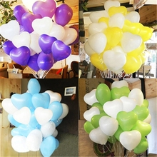 New 1.5g 12 inch Glossy Ballons Red Blue Green  Balloon 100pcs Wedding Heart Ballon Party Baloons Latex Balloons For Love