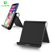 FLOVEME Phone Holder Stand For iPhone X 8 7 For iPad Universal Adjustable Foldable Mobile Phone Tablet Desk Holder Stand Mount(China)