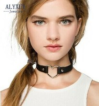 Fashion jewelry  simple leather tube choker necklace  gift for women girl  N1865