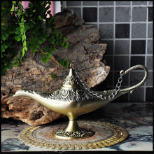 New Arab classic gold Aladdin lamp wish lamp aroma furnace home creative ornaments Gifts
