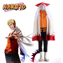 Hot Anime Naruto THE LAST Seventh Hokage Uzumaki Naruto Cosplay Costume with Cloak and Hokage's Hat Cosplay Suit(China)
