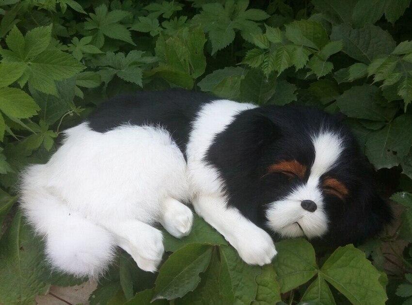 lovely simulation sleeping dog toy polyethylene&amp;furs lying high quality dog doll about 35x8x25cm<br><br>Aliexpress