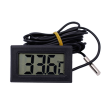New LCD display fish tank thermograph probe tester refrigerator Temperature Sensor Meter  with sense cable 2M