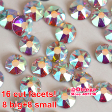 Excellent Quality Best Grade SS16 SS20 ss30 Clear AB Iron On Hotfix Crystal Hot Fix Rhinestone Flatback For Transfer Motif Y3546(China)