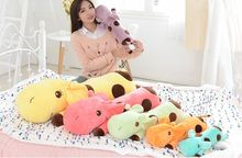 35cm/45cm/60cm cute giraffe plush toy sleeping long pillow, kawaii pillow papa giraffe stuffed animal doll(China)