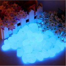 100pcs/bag Gravel For Your Garden Yard Glow in the Dark Pebbles Stones for Walkway Wedding Luminous Ornaments baby Toy 879228