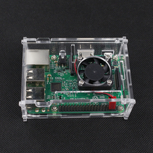 Raspberry Pi 3 Acrylic Case Transparent Orange Box Cover Shell + CPU Cooling Fan For Raspberry Pi 2/3 Model B