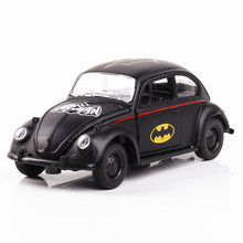 Black Bat Car Model Die Cast Material Length 12Cm Not with Light and Sound, 3 Doors Open Becautiful Vehicles(China)