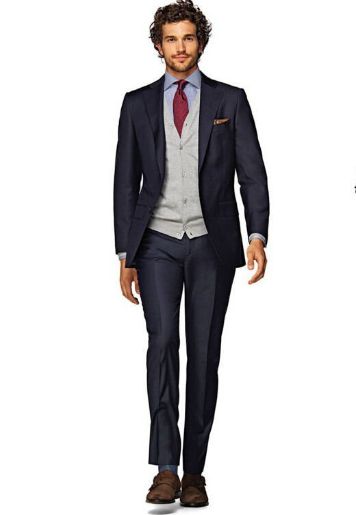 New Bespoke suit gentleman suit dress man slim High Quality man bussiness formal suits Ball Gowns(jacket + pants )