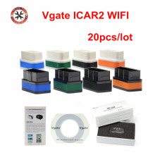 20pcs/lot Original Vgate Wifi iCar 2 OBDII ELM327 iCar2 wifi vgate OBD diagnostic interface for IOS iPhone iPad Android(China)