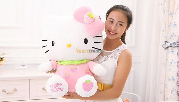 Fancytrader 2015 New Style Hello Kitty Toy 28 70cm Giant Plush Stuffed Hello Kitty, 6 Colors Available! Free Shipping FT90168<br><br>Aliexpress