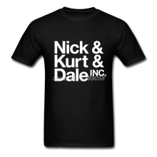 Nick Kurt Dale 2017 Brand Clothing Mens t-shirt New Tee Shirts Round Collar Short Sleeve Cotton Hot Sale Mens T Shirts