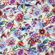 Painted flowers design vintage fabric Retro style fabric Calico Printed cotton fabric for DIY Bag 1 order=50cm*140cm(China)
