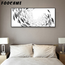 FOOCAME Marine Animal Fish Abstract Posters and Prints Art Canvas Painting Modern Home Decoration Wall Pictures For Living Room