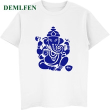 Brand Summer Casual T-shirt Elephant Buddha India Fashion Men's T-shirt Male Short Sleeve O-neck Shirt Cool Unisex Tees Tops(China)