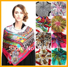 Free shipping ! hot sale satin square silk  women's scarves,90*90cm, beautiful muslim hijab for women  NO.1-NO.20 SC0271