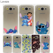 Lavaza cartoon stitch cute Hard Transparent Case for Samsung Galaxy S3 S4 S5 & Mini S6 S7 S8 Edge Plus(China)