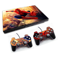 Spiderman For PS2 Vinyl Skin For Sony Playstation 2 Controle Console Cover Sticker And 2 Controller Gamepad Manttee Decal