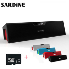 [+8GB] Sardine SDY-019 Bluetooth Speaker 10W Wireless Loudspeaker HiFi Stereo TF FM MIC Subwoofer Boombox Speakers For PC Phones