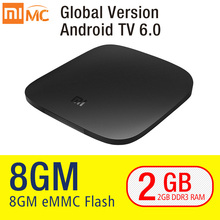 Original Xiaomi MI TV BOX 3 Smart 4K Ultra HD 2G 8G Android 6.0 Movie WIFI Google Cast Netflix Red Bull Media Player Set-top Box(China)