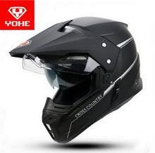 YOHE Road/Cross-country Dual-use Motorcycle helmet YH-628A Double lens Motorbike racing helmets Winter Motocross Moto helmets